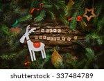 merry christmas. christmas... | Shutterstock . vector #337484789