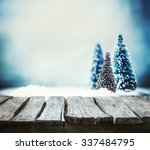 christmas background. xmas fir... | Shutterstock . vector #337484795