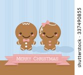 gingerbread man and gingerbread ... | Shutterstock .eps vector #337490855