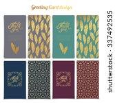 thank you card templates design ... | Shutterstock .eps vector #337492535