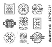 drone or quadrocopter set of... | Shutterstock .eps vector #337492739