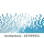 abstract square pixel mosaic... | Shutterstock .eps vector #337499321