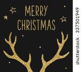 Hipster Christmas Card  Deer...
