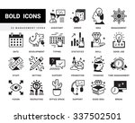 bold vector icons in a modern... | Shutterstock .eps vector #337502501
