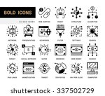 creative contemporary icon set... | Shutterstock .eps vector #337502729