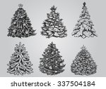 silhouetted christmas tree... | Shutterstock .eps vector #337504184