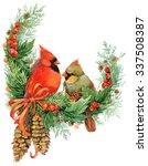 Christmas Wreath With Mistleto...
