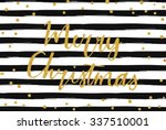 merry christmas   gold... | Shutterstock .eps vector #337510001