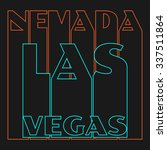 Vector illustration on the theme of Las Vegas, Nevada. Typography, t-shirt graphics, poster, banner, flyer, postcard - stock vector