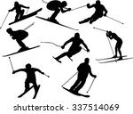 the set of skier silhouette | Shutterstock .eps vector #337514069
