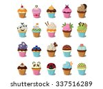 cupcakes design | Shutterstock . vector #337516289