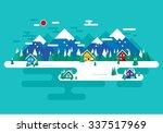 winter time  vector winter... | Shutterstock .eps vector #337517969