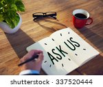 ask us contact information... | Shutterstock . vector #337520444