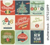 christmas set   labels  emblems ... | Shutterstock .eps vector #337521899