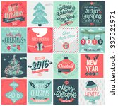 christmas set   labels  emblems ... | Shutterstock .eps vector #337521971