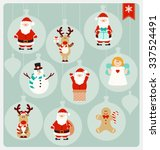 christmas characters   santa... | Shutterstock .eps vector #337524491