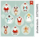 christmas characters   santa... | Shutterstock .eps vector #337524491