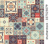 seamless patchwork pattern from ... | Shutterstock .eps vector #337525079