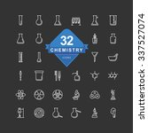 chemistry icons   line icons   | Shutterstock .eps vector #337527074