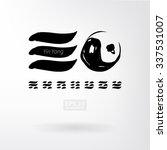 yin yang vector set of icons.... | Shutterstock .eps vector #337531007