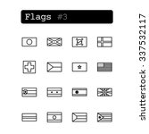 set line thin icons. vector.... | Shutterstock .eps vector #337532117