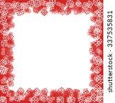 christmas snowflake border | Shutterstock .eps vector #337535831