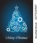 vector christmas greeting card... | Shutterstock .eps vector #337535987