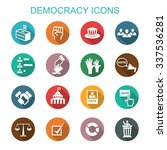 democracy long shadow icons ...   Shutterstock .eps vector #337536281