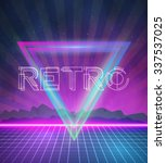 illustration of 1980 neon...   Shutterstock .eps vector #337537025