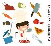 cook kid. children professions. ...   Shutterstock .eps vector #337539491