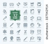 outline icon collection  ... | Shutterstock .eps vector #337542914