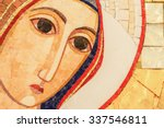 detail of the face of a mosaic... | Shutterstock . vector #337546811