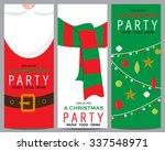 christmas invitation background ... | Shutterstock .eps vector #337548971