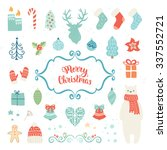 merry christmas decoration... | Shutterstock .eps vector #337552721