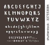 hand drawn vector alphabet.... | Shutterstock .eps vector #337553084