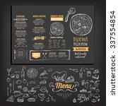 vector restaurant brochure ...   Shutterstock .eps vector #337554854