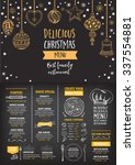 vector christmas restaurant... | Shutterstock .eps vector #337554881