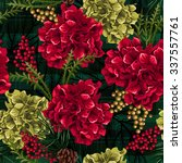 Christmas Flowers With Fir...
