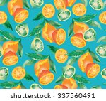 vector floral print with... | Shutterstock .eps vector #337560491