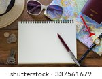 tourism planning and equipment... | Shutterstock . vector #337561679