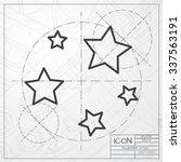 vector blueprint of stars icon... | Shutterstock .eps vector #337563191