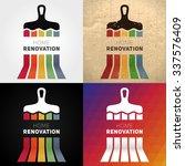 home remodeling logos. set of...