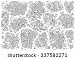 sketchy vector hand drawn... | Shutterstock .eps vector #337582271