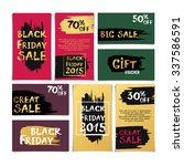black friday sale hand written... | Shutterstock .eps vector #337586591