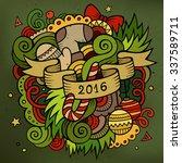 2016 new year doodles elements...   Shutterstock .eps vector #337589711