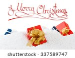 merry christmas and happy new... | Shutterstock . vector #337589747