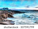 Oil Painting Of Stormy Seas...