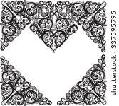 illustration with heart shape... | Shutterstock .eps vector #337595795