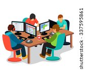 it company at work. group of... | Shutterstock .eps vector #337595861