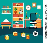 school student boy kid room... | Shutterstock .eps vector #337599245